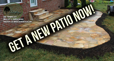 Get a new patio in Nashville, Brentwood, Franklin, Spring Hill, and Nolensville TN.
